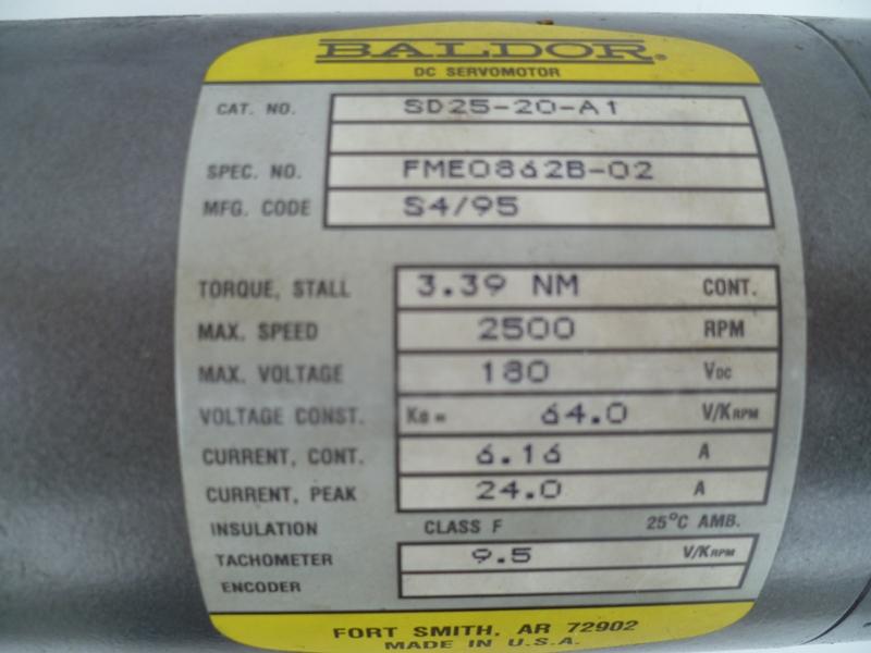Baldor-SD25-20-A1,2 - WKS